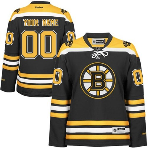 Reebok Boston Bruins Women's Customized Authentic Black Home Jersey