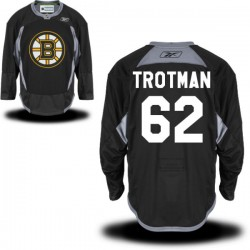 Adult Boston Bruins Zach Trotman Reebok Black Authentic Practice Alternate NHL Jersey