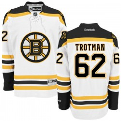 Adult Boston Bruins Zach Trotman Reebok White Authentic Away NHL Jersey