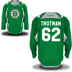 Adult Boston Bruins Zach Trotman Reebok Green Premier St. Patrick's Day Practice NHL Jersey