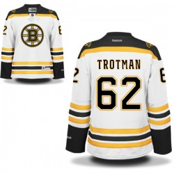 Women's Boston Bruins Zach Trotman Reebok White Authentic Away NHL Jersey