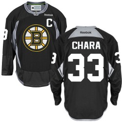 Adult Boston Bruins Zdeno Chara Reebok Black Authentic Practice NHL Jersey