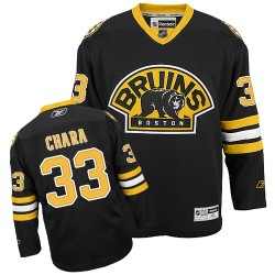 Adult Boston Bruins Zdeno Chara Reebok Black Authentic Third NHL Jersey
