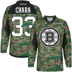 Adult Boston Bruins Zdeno Chara Reebok Camo Authentic Veterans Day Practice NHL Jersey