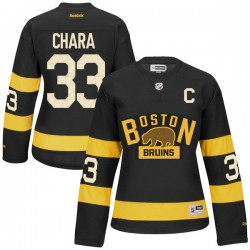 Women's Boston Bruins Zdeno Chara Reebok Black Premier 2016 Winter Classic NHL Jersey