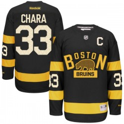 Adult Boston Bruins Zdeno Chara Reebok Black Premier 2016 Winter Classic NHL Jersey