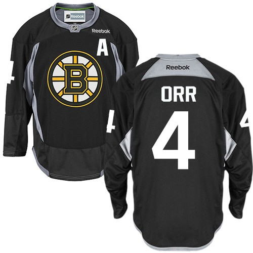 Adult Boston Bruins Bobby Orr Reebok Black Premier Practice NHL Jersey