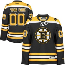 Reebok Boston Bruins Women's Customized Premier Black Home Jersey