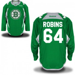 Adult Boston Bruins Bobby Robins Reebok Green Premier St. Patrick's Day Practice NHL Jersey