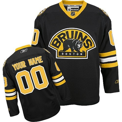 Reebok Boston Bruins Youth Customized Authentic Black Third Jersey