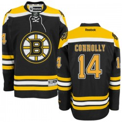 Adult Boston Bruins Brett Connolly Reebok Black Authentic Home NHL Jersey