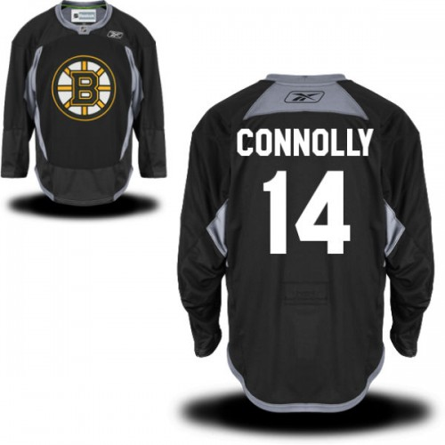 Adult Boston Bruins Brett Connolly Reebok Black Authentic Practice Alternate NHL Jersey
