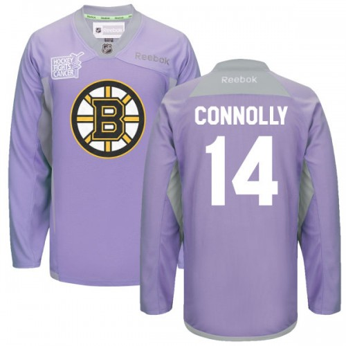 Adult Boston Bruins Brett Connolly Reebok Purple Authentic 2016 Hockey Fights Cancer Practice NHL Jersey
