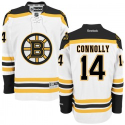 Adult Boston Bruins Brett Connolly Reebok White Authentic Away NHL Jersey