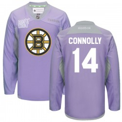 Adult Boston Bruins Brett Connolly Reebok Purple Premier 2016 Hockey Fights Cancer Practice NHL Jersey
