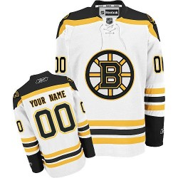 Reebok Boston Bruins Youth Customized Authentic White Away Jersey