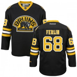 Adult Boston Bruins Brian Ferlin Reebok Black Premier Alternate NHL Jersey
