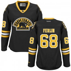 Women's Boston Bruins Brian Ferlin Reebok Black Authentic Alternate NHL Jersey