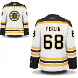 Women's Boston Bruins Brian Ferlin Reebok White Authentic Away NHL Jersey