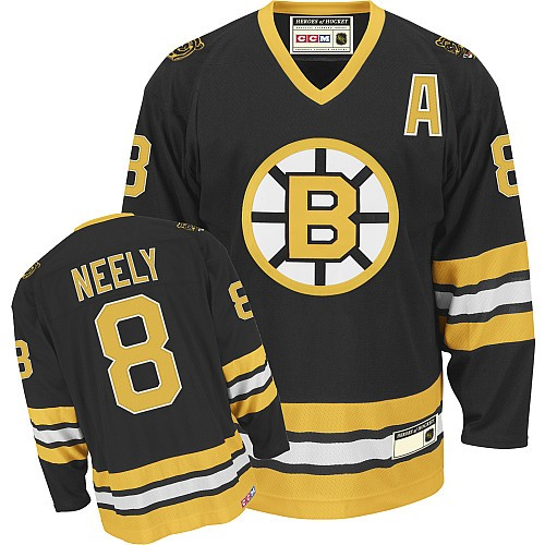 Adult Boston Bruins Cam Neely CCM Black Authentic Throwback NHL Jersey