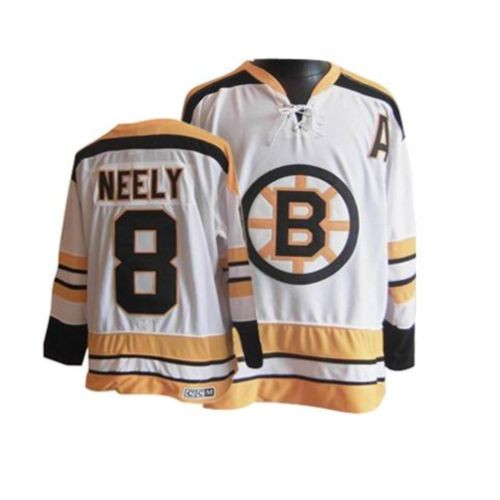 Adult Boston Bruins Cam Neely CCM White Premier Throwback NHL Jersey