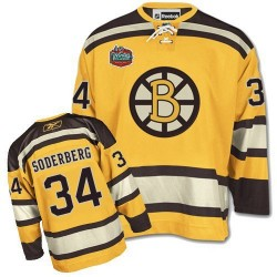 Adult Boston Bruins Carl Soderberg Reebok Gold Authentic Winter Classic NHL Jersey