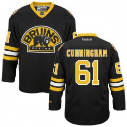 Adult Boston Bruins Craig Cunningham Reebok Black Authentic Alternate NHL Jersey