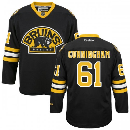 Adult Boston Bruins Craig Cunningham Reebok Black Premier Alternate NHL Jersey