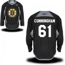 Adult Boston Bruins Craig Cunningham Reebok Black Premier Practice Alternate NHL Jersey