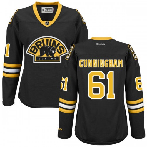 Women's Boston Bruins Craig Cunningham Reebok Black Authentic Alternate NHL Jersey