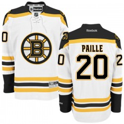 Adult Boston Bruins Daniel Paille Reebok White Authentic Away NHL Jersey