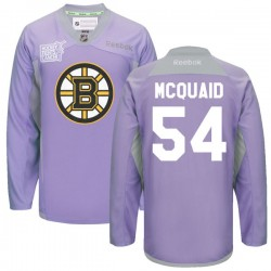 Adult Boston Bruins Adam Mcquaid Reebok Purple Authentic 2016 Hockey Fights Cancer Practice NHL Jersey
