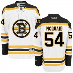 Adult Boston Bruins Adam Mcquaid Reebok White Authentic Away NHL Jersey