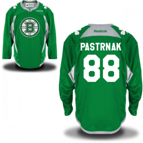 online retailer 2b2a4 c3442 Adult Boston Bruins David Pastrnak Reebok Green Authentic St. Patrick's Day  Practice NHL Jersey 46,48,50,52,54,56,60