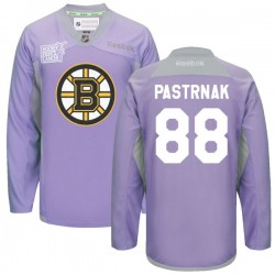 Adult Boston Bruins David Pastrnak Reebok Purple Authentic 2016 Hockey Fights Cancer Practice NHL Jersey