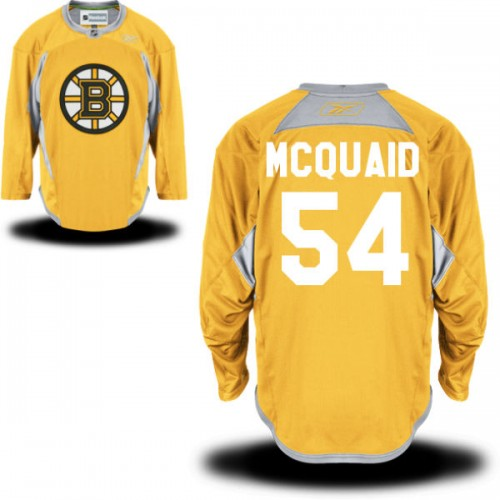 Adult Boston Bruins Adam Mcquaid Reebok Gold Premier Practice Team NHL Jersey