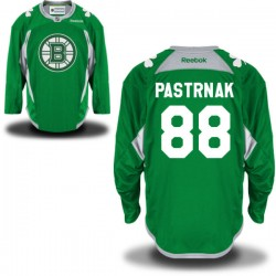 Adult Boston Bruins David Pastrnak Reebok Green Premier St. Patrick's Day Practice NHL Jersey