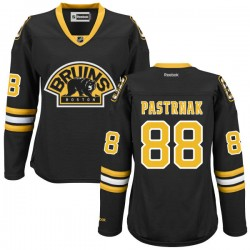Women's Boston Bruins David Pastrnak Reebok Black Premier Alternate NHL Jersey