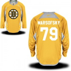 Adult Boston Bruins David Warsofsky Reebok Gold Premier Practice Team NHL Jersey