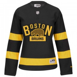 Women's Boston Bruins David Warsofsky Reebok Black Authentic 2016 Winter Classic NHL Jersey
