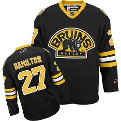 Adult Boston Bruins Dougie Hamilton Reebok Black Authentic Third NHL Jersey