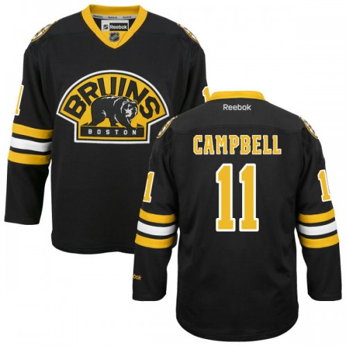 Adult Boston Bruins Gregory Campbell Reebok Black Authentic Alternate NHL Jersey