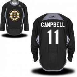 Adult Boston Bruins Gregory Campbell Reebok Black Authentic Practice Alternate NHL Jersey