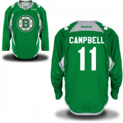Adult Boston Bruins Gregory Campbell Reebok Green Authentic St. Patrick's Day Practice NHL Jersey