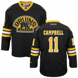 Adult Boston Bruins Gregory Campbell Reebok Black Premier Alternate NHL Jersey