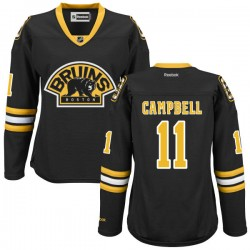Women's Boston Bruins Gregory Campbell Reebok Black Authentic Alternate NHL Jersey