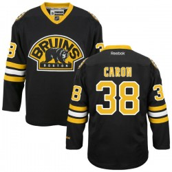 Adult Boston Bruins Jordan Caron Reebok Black Authentic Alternate NHL Jersey