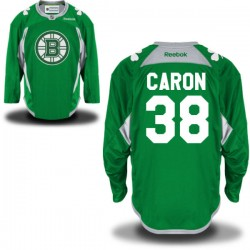 Adult Boston Bruins Jordan Caron Reebok Green Authentic St. Patrick's Day Practice NHL Jersey