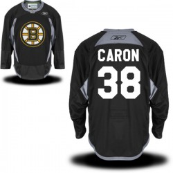 Adult Boston Bruins Jordan Caron Reebok Black Premier Practice Alternate NHL Jersey