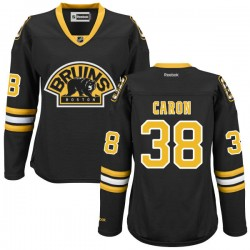 Women's Boston Bruins Jordan Caron Reebok Black Authentic Alternate NHL Jersey